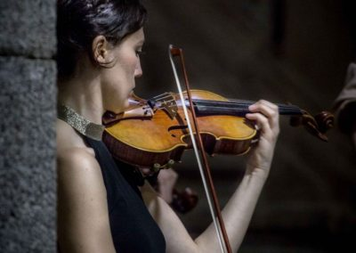 La violinista Blanca Fernández